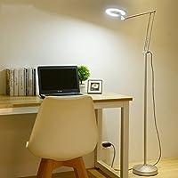 &フロアランプ LEDアイ保護フロアランプ居間スタディベッドルームベッドサイドリーディングライト現代リモートコントロール&照明 (色 : 黒, サイズ さいず : Switch button)