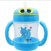 BANGBEI漫画の子供のプラスチックカップ幼児のトレーニングカップハンドル ( 色 : 青 )