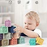 Jacob Simons 6セット 幼児 赤ちゃんのおもちゃ ぬいぐるみブロック布 キューブブロック ビルディングラトル スクイッシーハンドベルキューブ サウンドEa 画像
