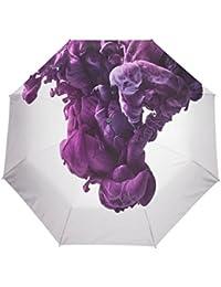 KASAMO水彩折りたたみ傘 子供 キャラクター ワンタッチ自動開閉 耐強風 折りたたみ傘 レディース 晴雨兼用 軽量 紫外線傘 UVカット