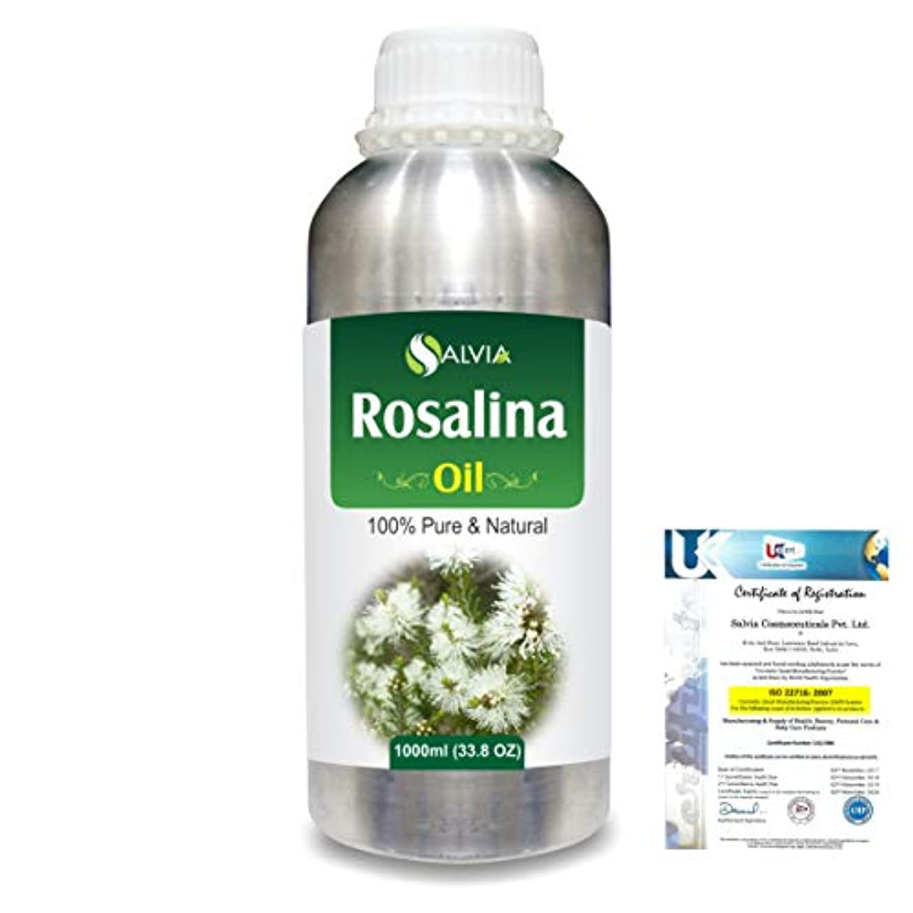 切り刻むショートダニRosalina (Melaleuca Ericifolia) 100% Natural Pure Essential Oil 1000ml/33.8fl.oz.