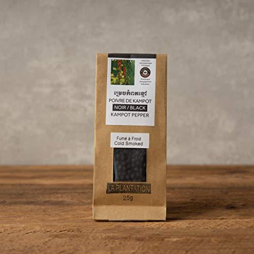 "La Plantation ""香りを楽しむ"" 燻製黒胡椒 (粒) カンポットペッパー カンボジア胡椒 Smoked Black Pepper… (25g x 1個)"