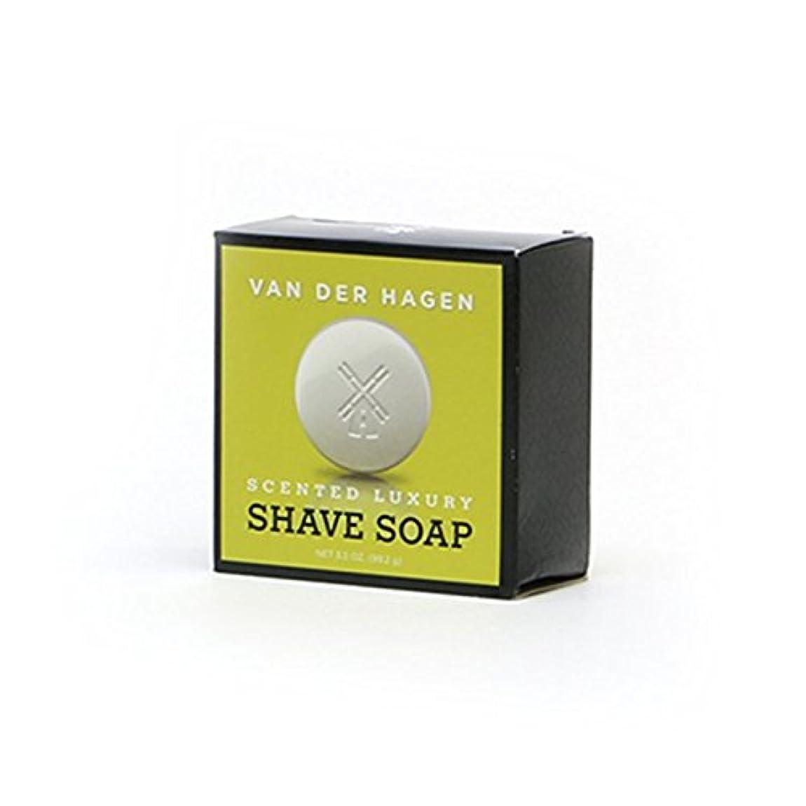 偏見ストリップ時間厳守VANDERHAGEN(米) シェービングソープ 剃刀負けしにくい アクア系 髭剃り用石鹸