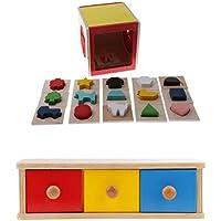 P Prettyia 子ども シェイプソートボックス ジオメトリブロック 感覚教育 思考力 知育玩具