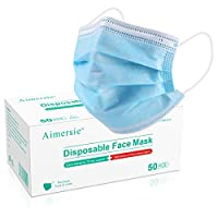 50 Pcs Disposable Face Mask 3-Layer Breathable Protective Mouth Cover Mask