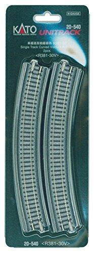 Nゲージ ユニトラック線路 ユニトラック高架線路 単線高架曲線線路 R381-30° (2本入) #20-540