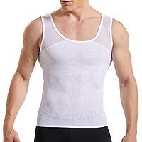 HANERDUN Men Body Shaper Powerful Compression Vest Slimming Shirt High Elasticity Shapewear