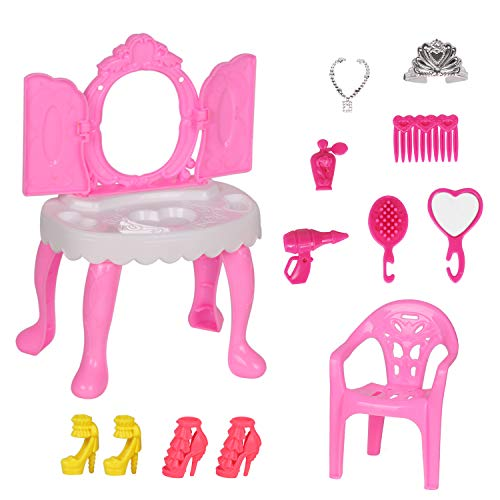 人形 鏡台 ミニサイズ アクセサリー 靴 椅子...