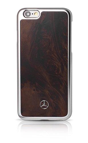 エアージェイ メルセデス・ベンツ(Mercedes-Benz)公式ライセンス品 iPhone6Plus/6SPlus専用 ウッド素材バックカバー ブラック MEHCP6LPOBK
