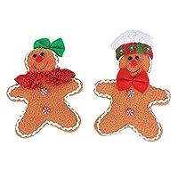 クリスマスデコレーションクリスマスキャンディジャークリスマスツリーハンギングジンジャーブレッドマンオーナメントドールクリスマスホームハングペンダントクリスマスデコレーションホーム6個