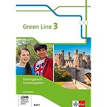 Green Line 3. Ausgabe Bayern. Trainingsbuch Schulaufgaben, Heft mit Loesungen und CD-ROM 7. Klasse