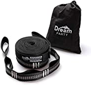 Dream Party Hanging Chain, Hammock, Belt, Set of 2 (Length: 14.6 inches (370 cm), 20 Nodes + 1 Loop, Load Capa