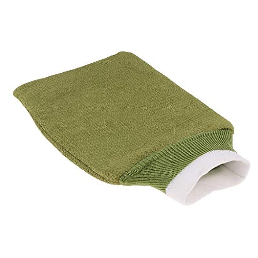 資本便利さ干渉バスグローブ 浴用手袋 シャワー用 バスミット 垢すり手袋 毛穴清潔 角質除去 男女兼用 全3色 - 緑