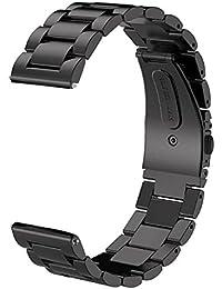 v-moroの歯車s3フロンティア/クラシック時計バンド、22 mm Solidステンレススチールメタルビジネス交換用ブレスレットストラップfor Samsung Gear s3フロンティア/ s3クラシックスポーツスマートウォッチ (メタルブラック)
