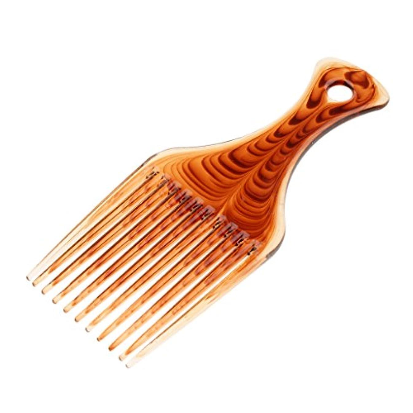 暴露する四分円報奨金ヘアコーム ヘアブラシ くし プラスチック製 アフロ 髪の櫛 かつらにも適用 スタイリング 持ち上げ ヘアブラシ