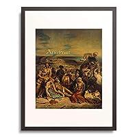 ウジェーヌ・ドラクロワ Ferdinand Victor Eugène Delacroix 「キオス島の虐殺 Scenes from the Massacre of Chios. 1822」 額装アート作品