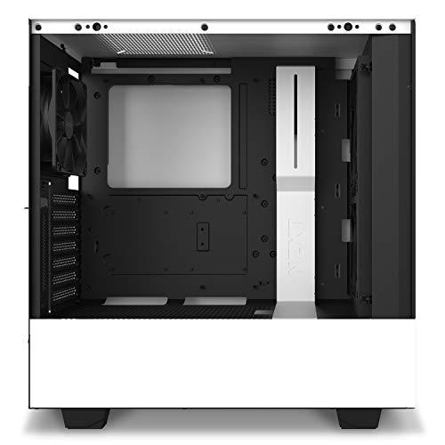 『NZXT H510 Elite 前面+側面ガラスパネル RGB LED発光&ファン制御機能搭載 [ White & Black ] CA-H510E-W1』の5枚目の画像