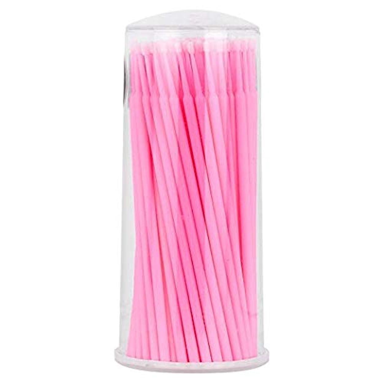 成果耐久香り大広間および家の使用のために適した100部分の使い捨て可能なまつげ延長ブラシ (ピンク)