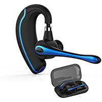 Bluetooth ヘッドセット ブルートゥース 完全 ワイヤレス イヤホン ビジネス片耳ハンズフリー 通話 V4.1 マイク内蔵 イヤフック伸縮でき 受話器が回転できる各種類設備に対応