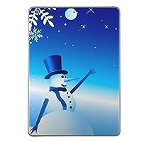 第1世代 iPad Pro 9.7 inch インチ 共通 スキンシール apple アップル アイパッド プロ A1673 A1674 A1675 タブレット tablet シール ステッカー ケース 保護シール 背面 人気 単品 おしゃれ その他 雪 冬 雪だるま 001482