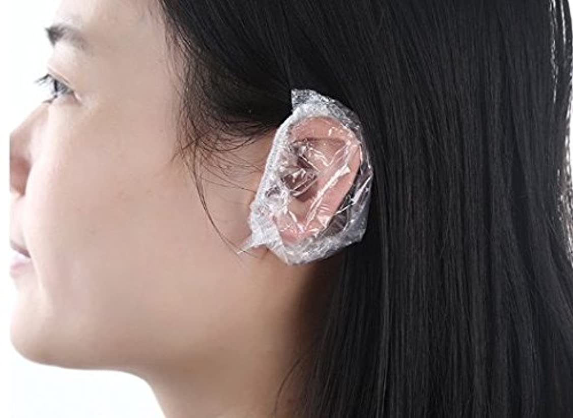 オセアニアスクラッチ避けられない(all lead )毛染め用 シャワーキャップ 髪染め 耳キャップ 耳カバー イヤーキャップ 使い捨て(100枚)