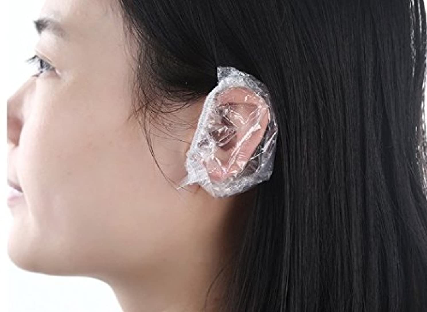 療法ふけるありがたい(all lead )毛染め用 シャワーキャップ 髪染め 耳キャップ 耳カバー イヤーキャップ 使い捨て(100枚)