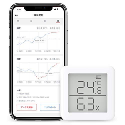 【本日限定】SwitchBot(スイッチボット)  Bluetoothデジタル温湿度計 1,426円!2000円以上 or プライム会員は送料無料!【Googleアシスタント・Amazonアレクサ対応】
