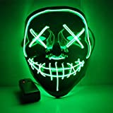 マスクコスプレ、led点滅マスク光るマスク衣装匿名マスク用光るダンスカーニバルパーティーマスクハロウィン装飾