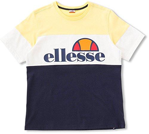 [해외]ELLESSE (엘레 세) 남여 주니어 테니스웨어 T 셔츠 옐로우 EE17102/ELLESSE (Eelse) Unisex Junior Tennis Wear T Shirt Yellow EE 17102