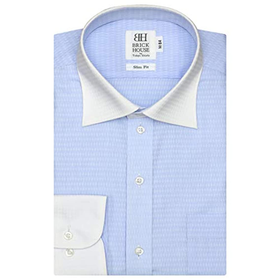 むさぼり食ううがい薬潜むブリックハウス ワイシャツ 長袖 形態安定 クレリック ワイド スリム メンズ BM018500AA11W1A-10