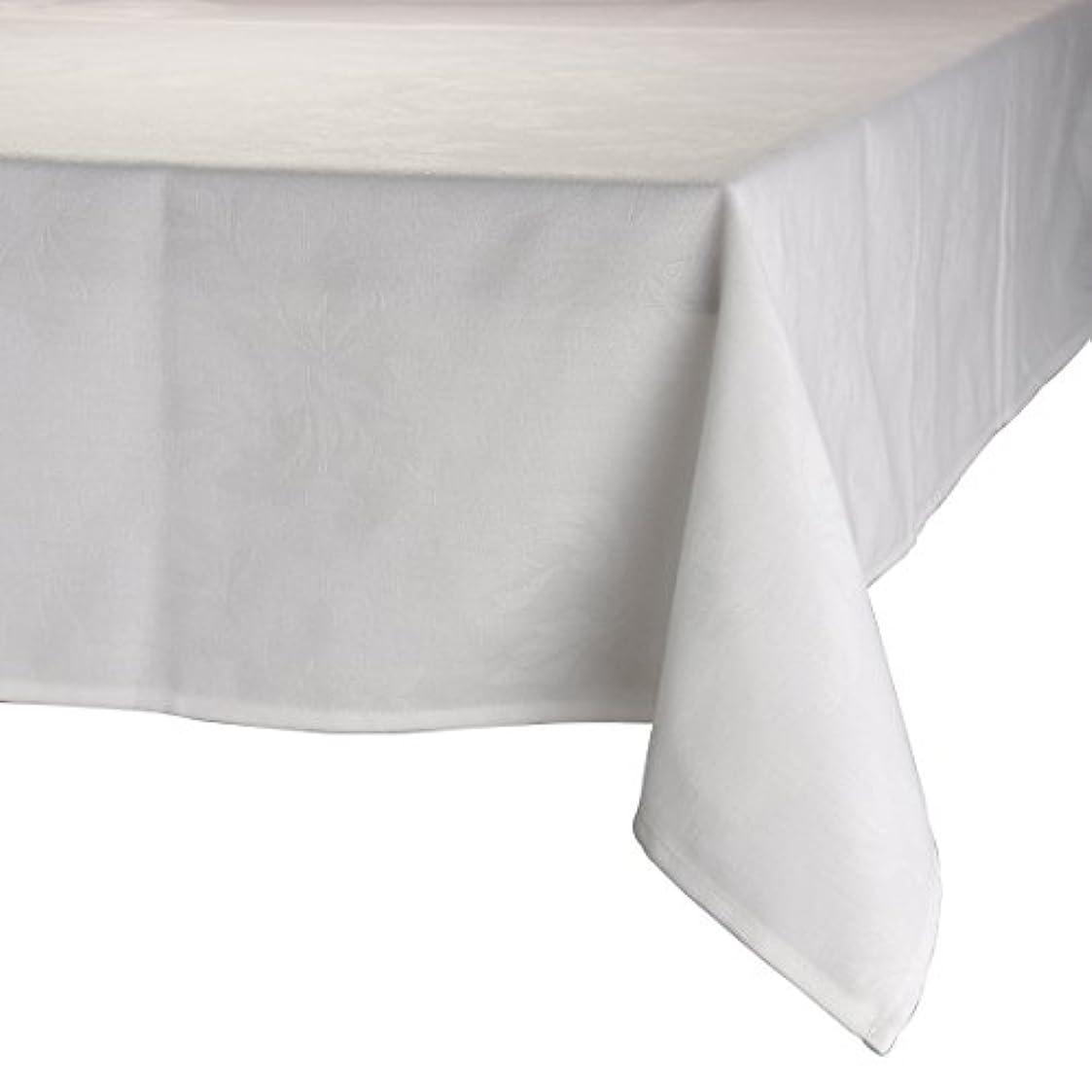 ライオネルグリーンストリートペフサスペンションMAJEST(マジェスト) テーブルクロス 長方形160cmx240cm 布地 ホワイト 花柄 繋なし 吸水タイプ