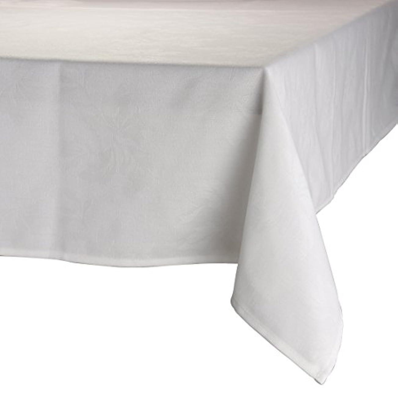 上がるロック登場MAJEST(マジェスト) テーブルクロス 長方形150cmx260cm 布地 ホワイト 花柄 繋なし 吸水タイプ