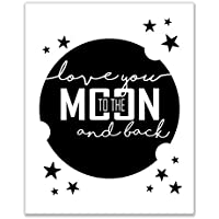 Love You To The Moon And Back Print–( 8x 10)光沢フォト