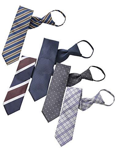 BUSINESSMAN SUPPORT(ビジネスマンサポート) ワンタッチネクタイ ジップ式簡単ネクタイ 5本セット Eタイプ zip5e-c2d2g2h1k1