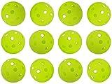 GP (ジーピー) 野球 バッティング トレーニングボール 穴あき PE素材 蛍光緑 42mm 24個入り 35356