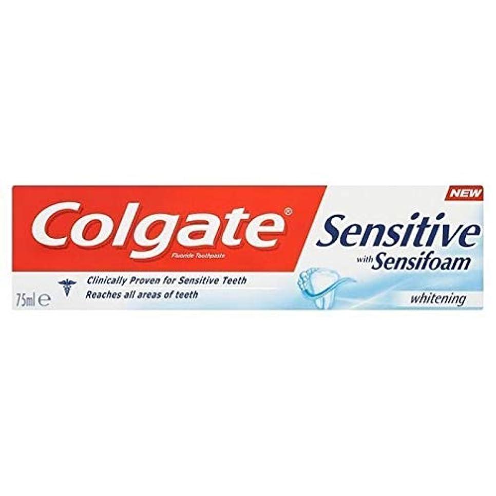 定刻変換する明らかに[Colgate ] Sensifoamホワイトニング歯磨き粉75ミリリットルと敏感コルゲート - Colgate Sensitive with Sensifoam Whitening Toothpaste 75ml [...