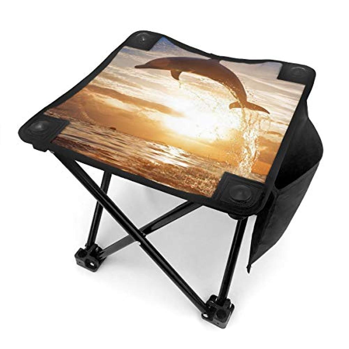 若者ウェーハもっとシーマリンドルフィン キャンプ用折りたたみスツール アウトドアチェア 折りたたみ コンパクト椅子 折りたたみスツール 小型スツール 収納袋付き 持ち運びが簡単 耐荷重100kg
