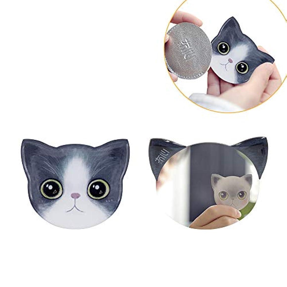 気球拡大するキャプチャー手鏡 コンパクト iitrust 猫柄 8パタン 収納袋付き 割れない 鏡 おしゃれ コンパクトミラー ハンドミラー かわいい 手鏡 猫 手鏡 かわいい iitrust 並行輸入品