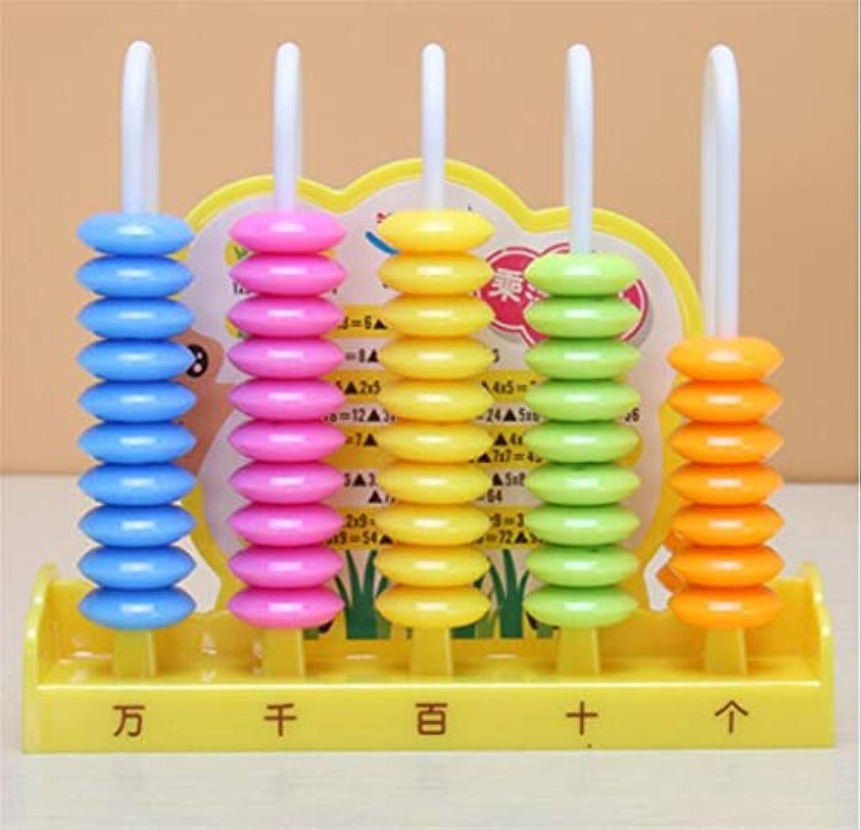 幼児期のゲーム 5行カウンターパズル早期教育子供数学計算教材(青)