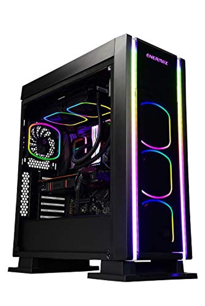 ソフトウェア間隔パーセントEnermax Saberay ADV A-RGB ライティング ATX ミッドタワー ゲームPCケース クイックリリース サイドパネル 3 ARGB ファン プリインストール ECA3500ABA-RGB