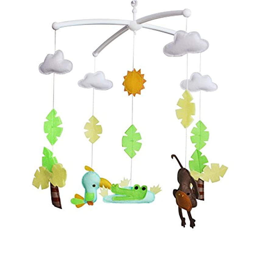 不足カンガルーエスカレートベビーベッドハンギングベル幼児ベッドの装飾音楽玩具、動物タイプ、E02