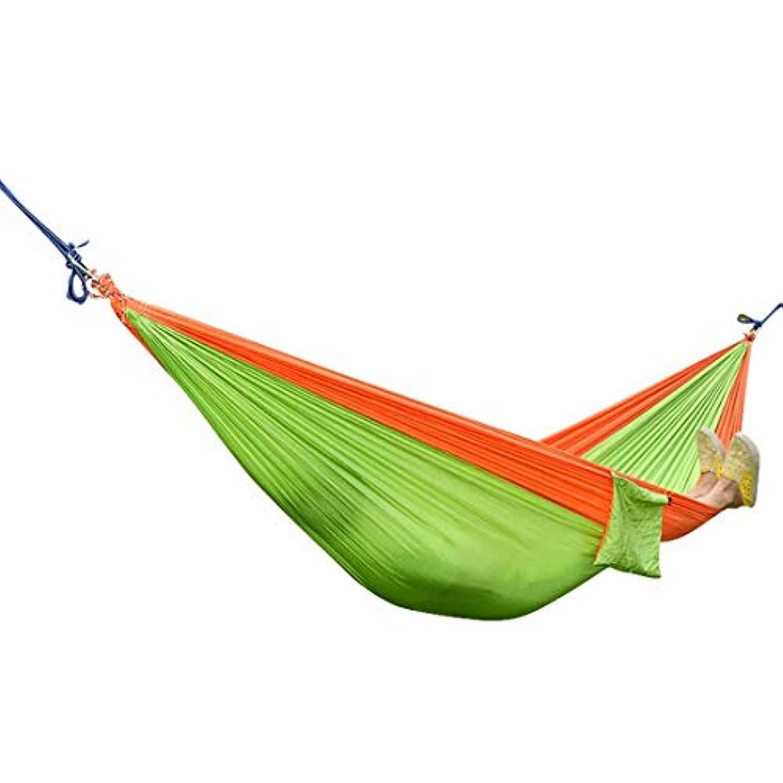 承認する解釈バルセロナKoloeplf シングル&ダブルキャンプハンモック、バックパッキングのための木のストラップ付きのポータブル軽量パラシュートナイロンハンモック、キャンプ、旅行、ビーチ、庭