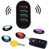 キーファインダー Hizek 探し物発見器 忘れ物/落し物/紛失防止 Key Finder LED搭載 音鳴り 電池付き 受信機4個セット