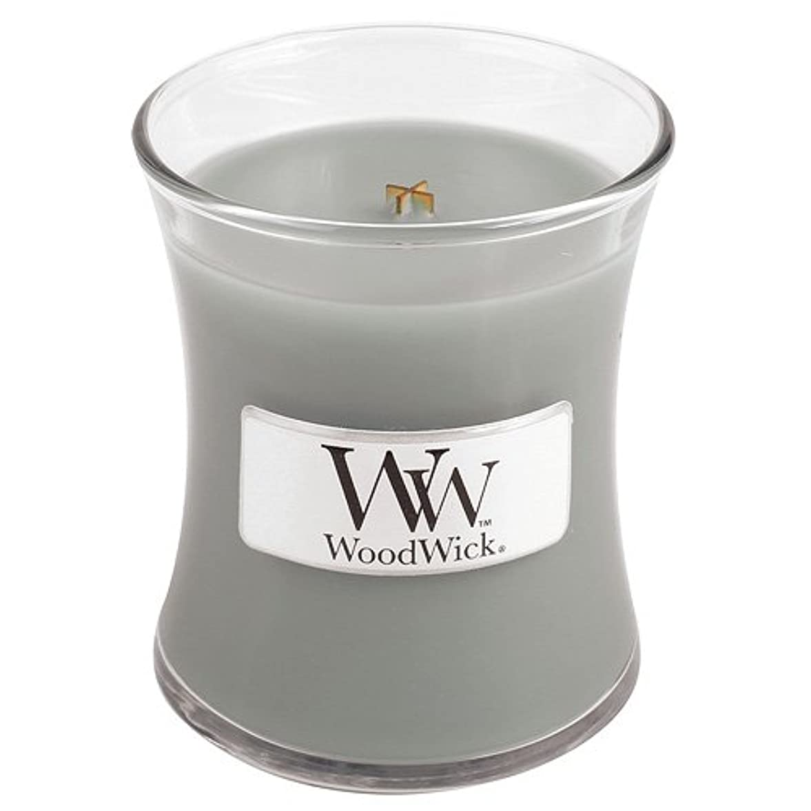 ベルベットスーツケース罪Woodwick Mini Fireside Candle 3.4oz by WoodWick