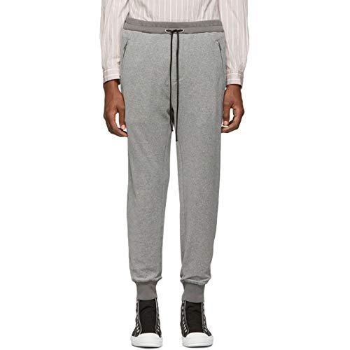 3.1 Phillip Lim (スリーワン フィリップ リム) メンズ ボトムス・パンツ スウェット・ジャージ Grey Dropped-Rise Tapered Lounge Pants サイズM-WAISTUS34 [並行輸入品]