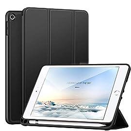 iPad mini 5 ケース 2019モデル ペンホルダー付き 三つ折スタンド オートスリープ機能付き スマートカバー 軽量 薄型 ハニカム放熱 PU 手帳型 全面保護 第五世代 7.9インチ