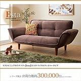 リクライニングカウチソファ【Esta】エスタ マイクロファイバータイプ ブラウン