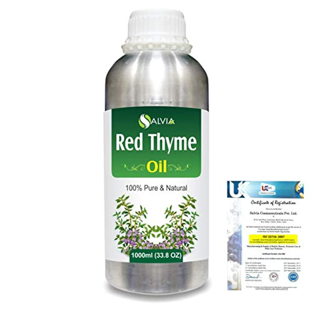 ドットファシズム解放Red Thyme (Thymus Vulgaris) 100% Pure Natural Oil 1000ml/33.8fl.oz.