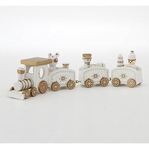 不二貿易 木製 トレイン 4連 ホワイト 85245