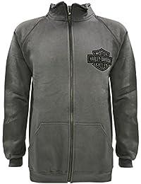 ハーレーダビッドソンMen 's Bar & Shieldトラックジャケット、CharcooalジップH - D 30296617